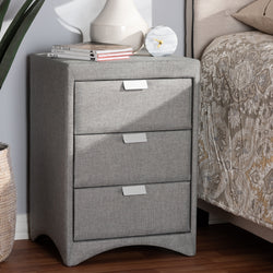 Tammy Fabric 3-Drawer Nightstand - living-essentials