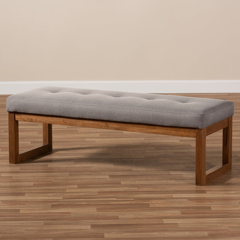 Carina Walnut Brown Finished Wood Bench - living-essentials