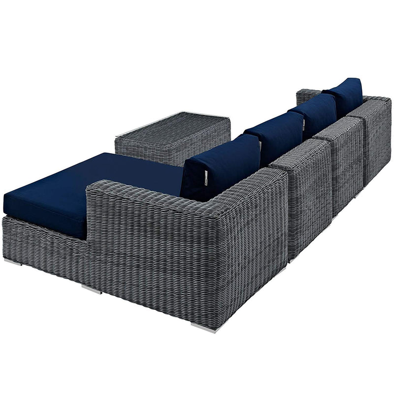 Sully 5 Piece Outdoor Patio Sunbrella® Sectional Set - living-essentials