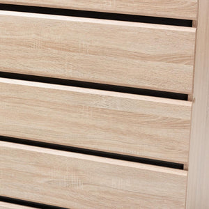 Mika Light Oak and Dark Grey 5-Drawer Chest