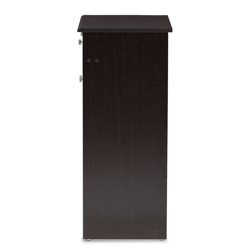 Dario Wenge Brown Shoe Cabinet - living-essentials