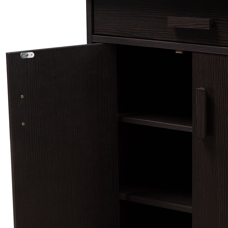 Boris Wenge Brown Shoe Cabinet - living-essentials