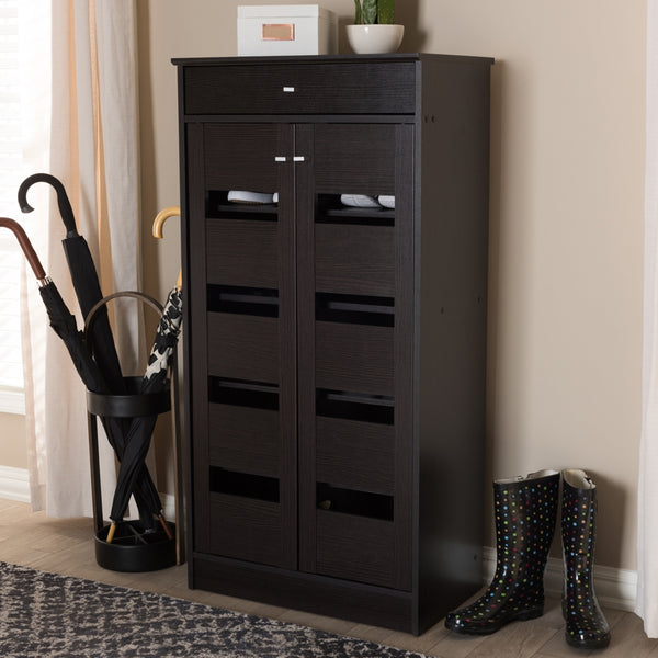 Arlo Wenge Brown Shoe Cabinet - living-essentials