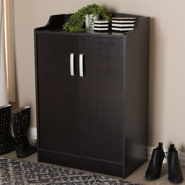 Vesper Wenge Brown Shoe Cabinet - living-essentials