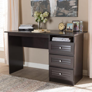 Carmine Wenge Brown Finished Desk