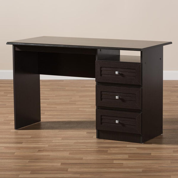 Carmine Wenge Brown Finished Desk - living-essentials