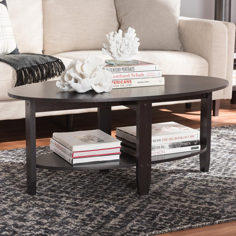 Anaya Wenge Brown Coffee Table - living-essentials