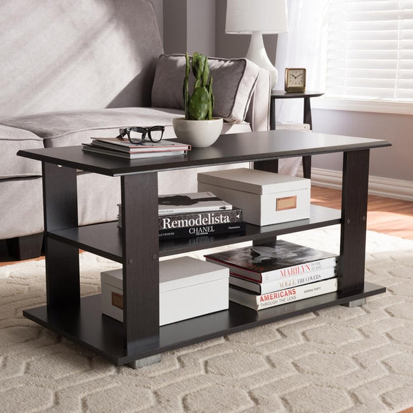 Jodie Wenge Brown Coffee Table - living-essentials