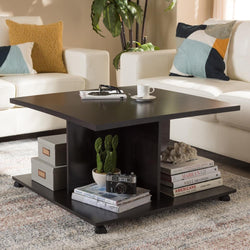 Clarity Wenge Brown Coffee Table - living-essentials