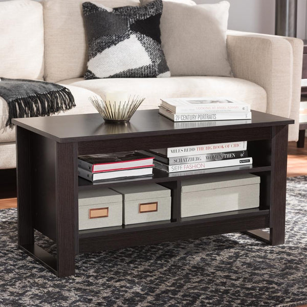 Nevin Wenge Brown Coffee Table - living-essentials