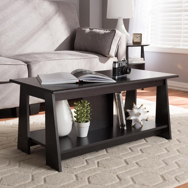 Findley Wenge Brown Coffee Table - living-essentials