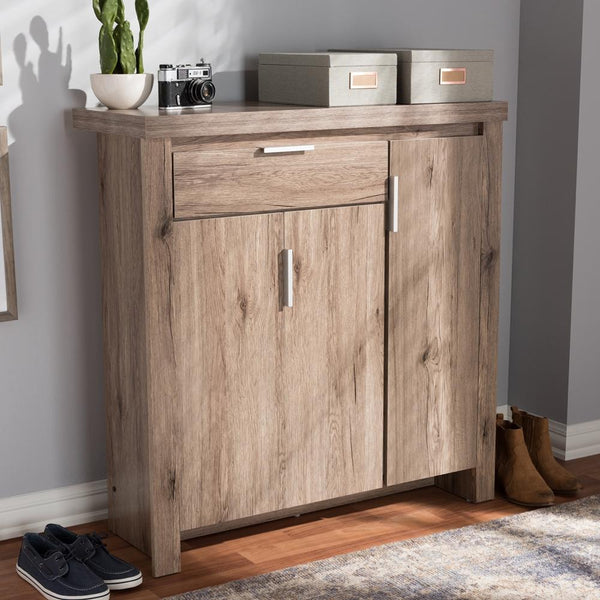 Lawson Oak Brown Shoe Cabinet - living-essentials