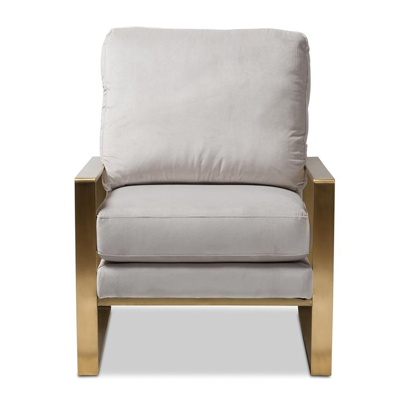 Mica Grey Velvet Lounge Chair - living-essentials