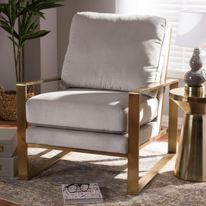 Mica Grey Velvet Lounge Chair
