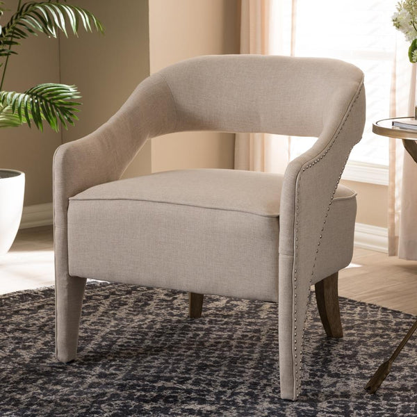 Foster Beige Lounge Chair - living-essentials
