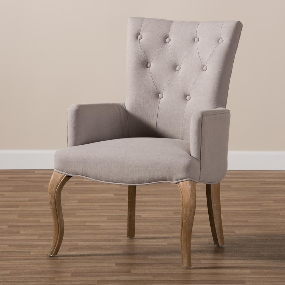 Clio French Beige Lounge Chair