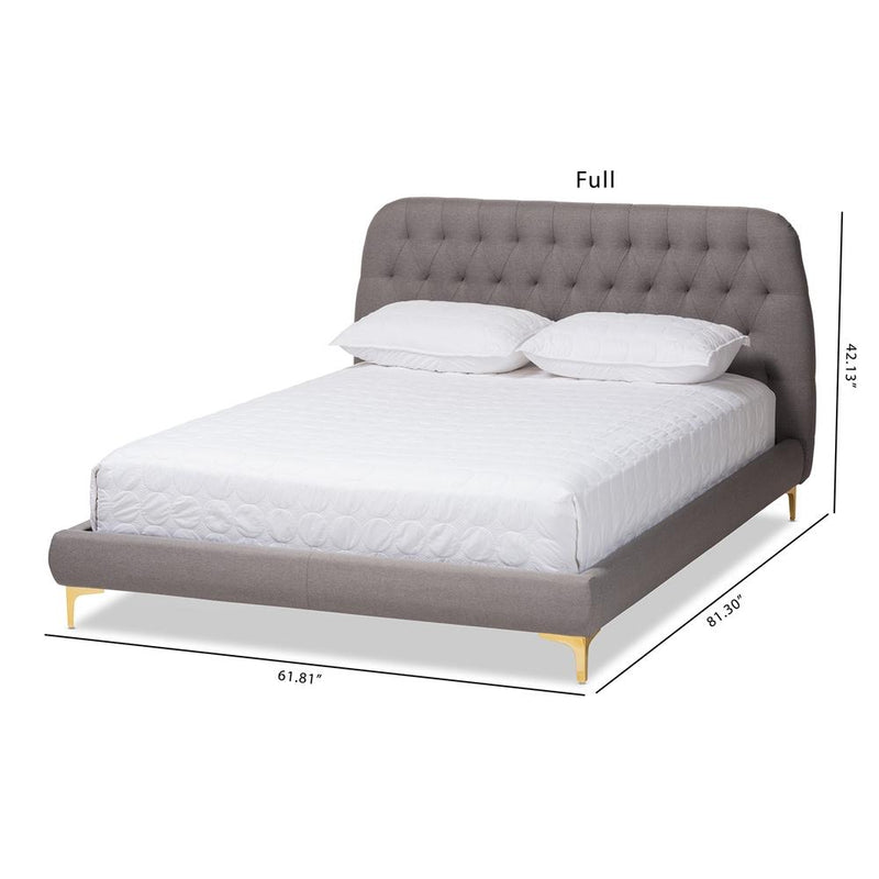 Indigo Light Grey Full Platform Bed - living-essentials