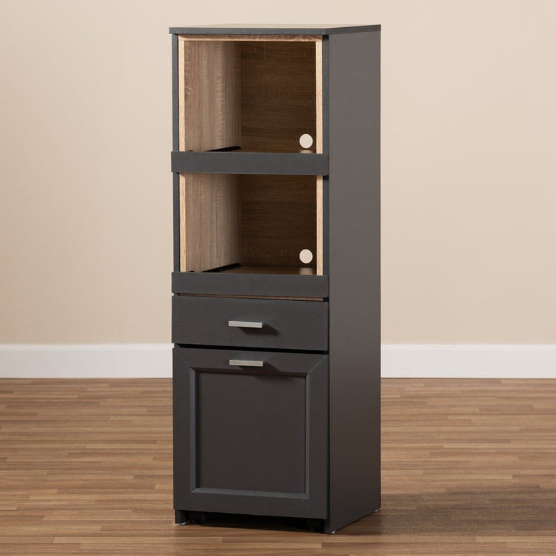 Fabiola Kitchen Cabinet with Roll-out Compartment - living-essentials