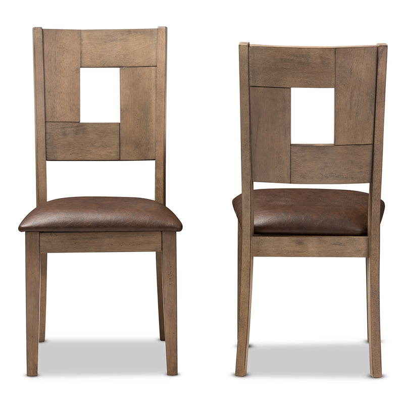 Giorgio Weathered Grey Dining Chair (Set of 2) - living-essentials