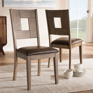Giorgio Weathered Grey Dining Chair (Set of 2)