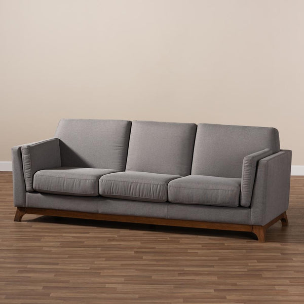 Salma Grey 3-Seater Sofa - living-essentials