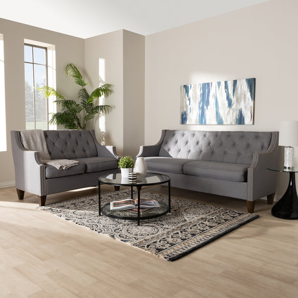 Celeste Grey 2-Piece Living Room Set - living-essentials