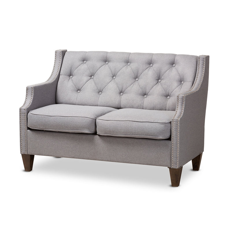 Celeste Grey 2-Seater Loveseat - living-essentials