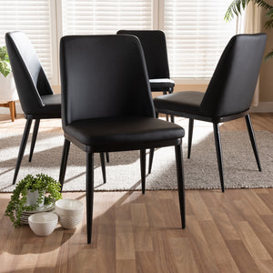 Dario Leather Dining Chair (Set of 4)