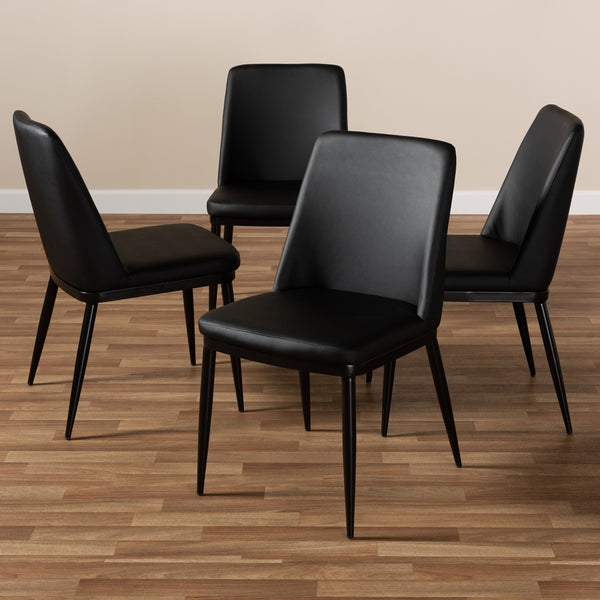 Dario Leather Dining Chair (Set of 4) - living-essentials