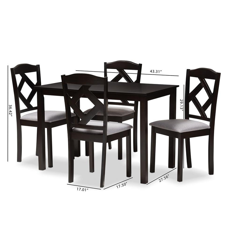 Rusty 5-Piece Dining Set - living-essentials