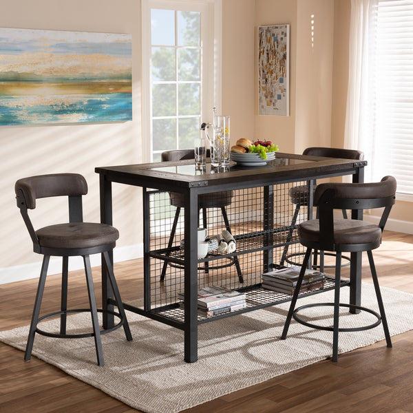 Ariel Antique 5-Piece Pub Set - living-essentials