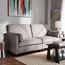 Delight Modern Light Gray Fabric Sleeper Sofa - living-essentials