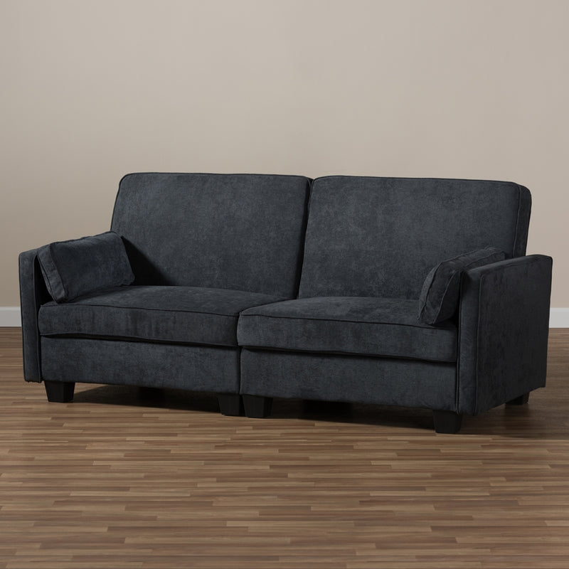 Delight Modern Dark Gray Fabric Sleeper Sofa - living-essentials
