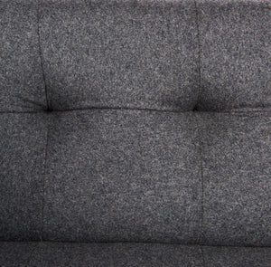 Sonora Dark Grey Wool Tufted Sofa