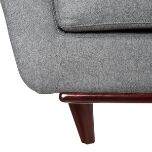 Luca Light Grey Wool Sofa