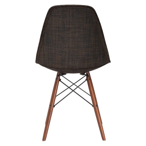 Emfurn DAW Style Walnut Fabric Dining Chair - living-essentials