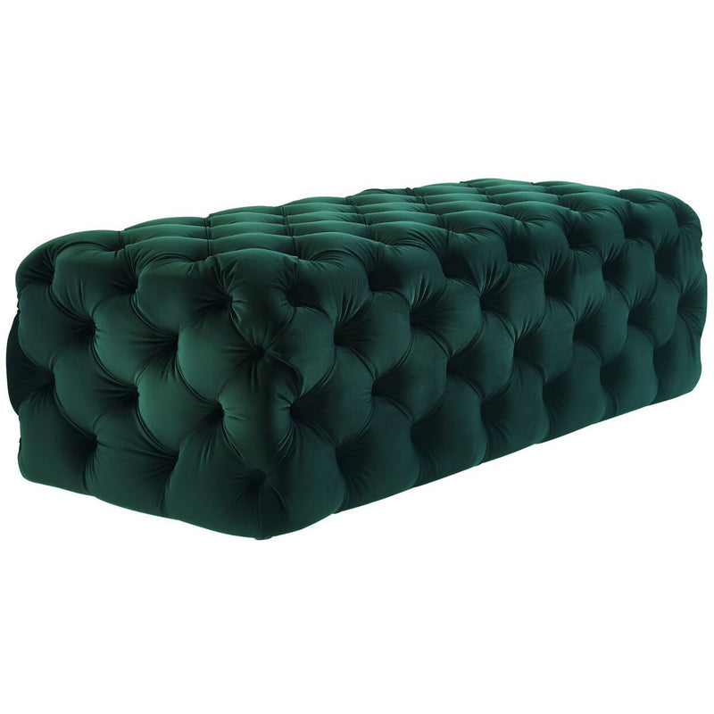 Kayla Velvet Ottoman - living-essentials