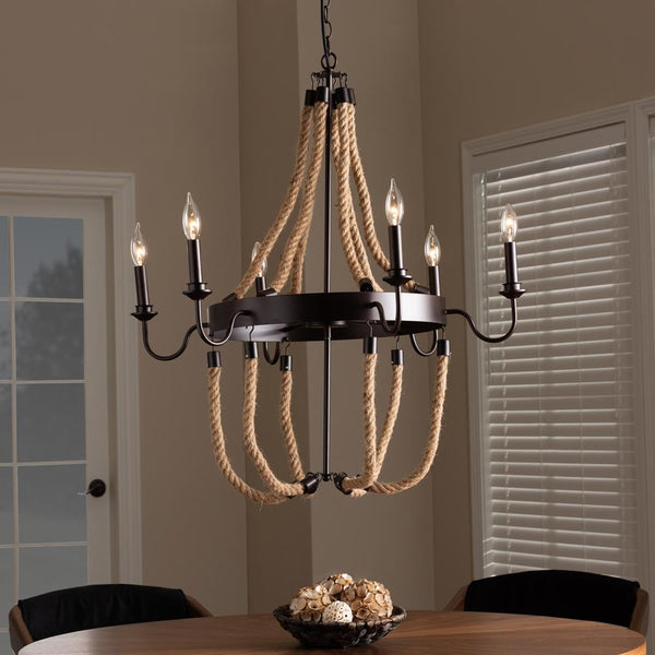 Callie Vintage 6 Light Chandelier - living-essentials