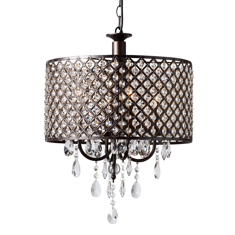 Gabriela 4-light Drum Pendant Light Chandelier - living-essentials