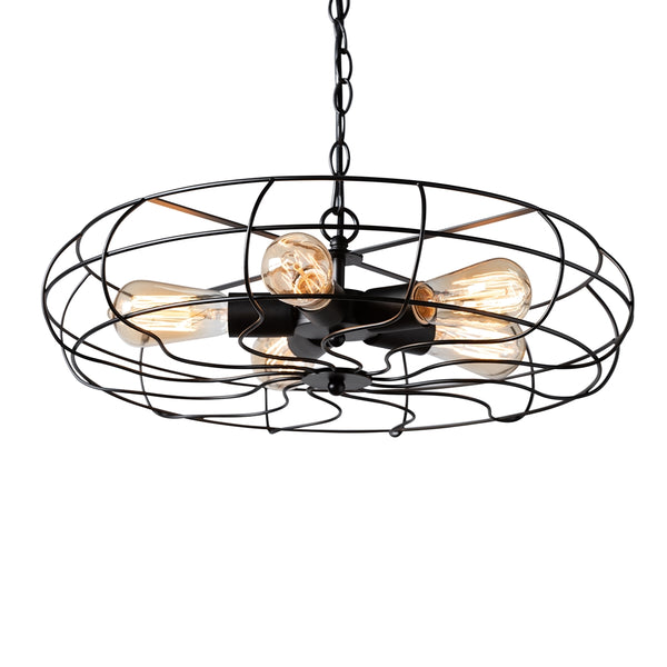 Jasmine Vintage 5-Light Cage Fan Pendant Light - living-essentials