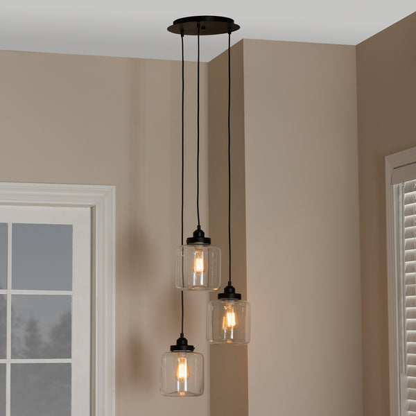 Scarlet Industrial 3-light Pendant Light - living-essentials