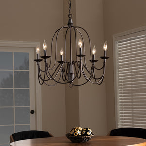 Priya Transitional 6-Light Chandelier - living-essentials