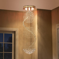 Celeste Long Spiral Pendant Light Chandelier - living-essentials