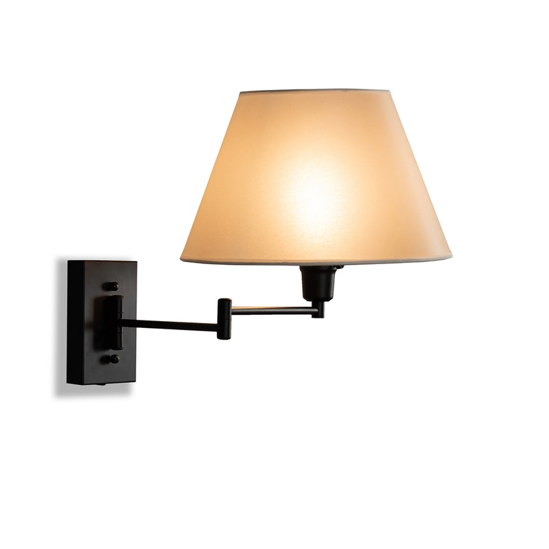 Kira Black Metal Swing Arm Wall Sconce Lamp - living-essentials