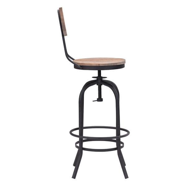 Adelaide Distressed Natural Bar Chair - living-essentials