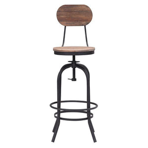 Adelaide Distressed Natural Bar Chair Free Shipping
