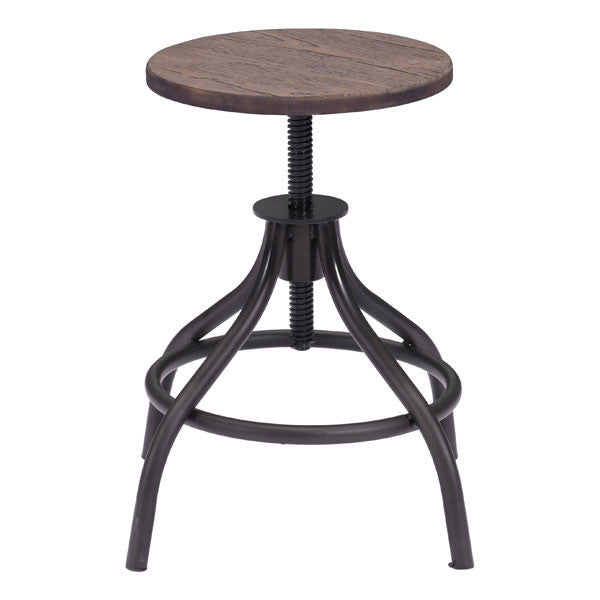 Talon Rustic Wood Stool - living-essentials