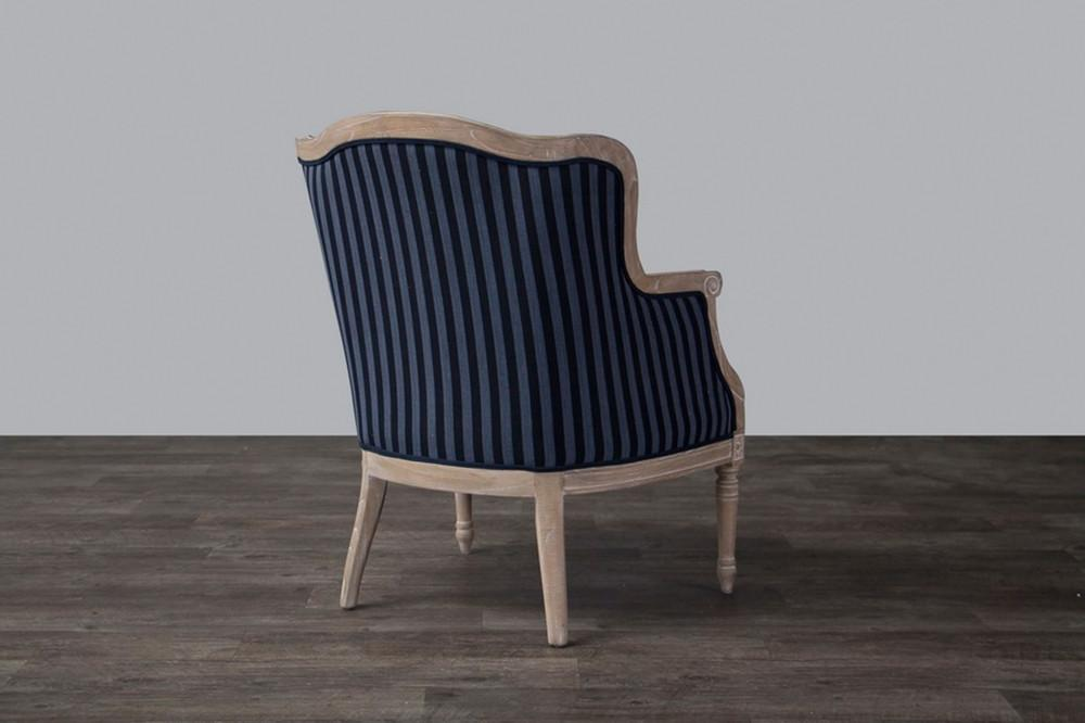 Grey And White Striped Accent Chair: Modern Accent Chairs