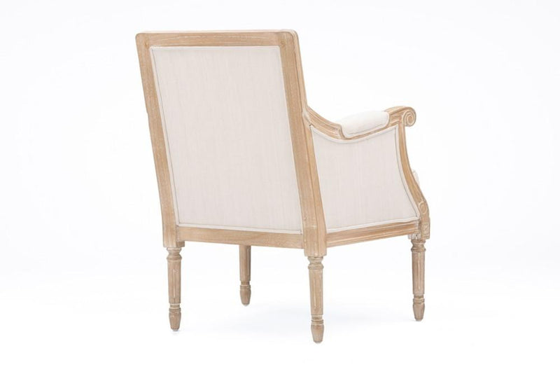 Camie Light Beige Traditional French Accent Chair - living-essentials