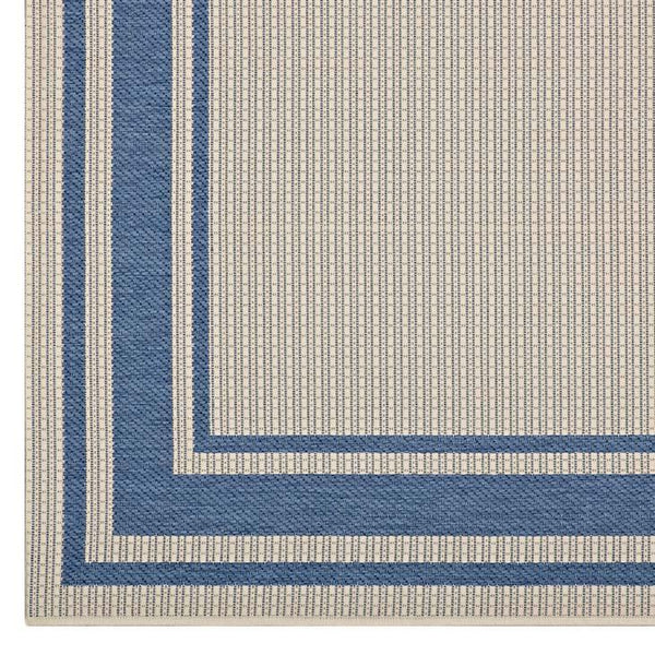 Rome Solid Border Borderline 5x8 Indoor and Outdoor Area Rug - living-essentials